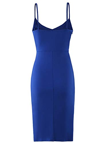 64a6f9c40d9a8 Zalalus Women's Bodycon Cocktail Party Dresses Deep V Neck Backless  Spaghetti Straps Sexy Summer Short Casual ...